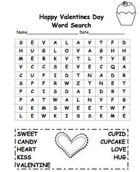 Printable Valentine Word Search 1st Grade | valentine s day word search 2nd grade free freebie