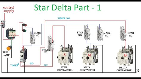 delta starter motor with circuit diagram in