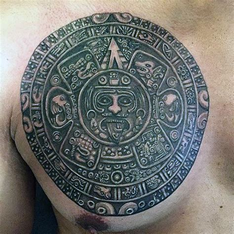 mayan calendar tattoo designs 80 mayan tattoos for masculine design ideas