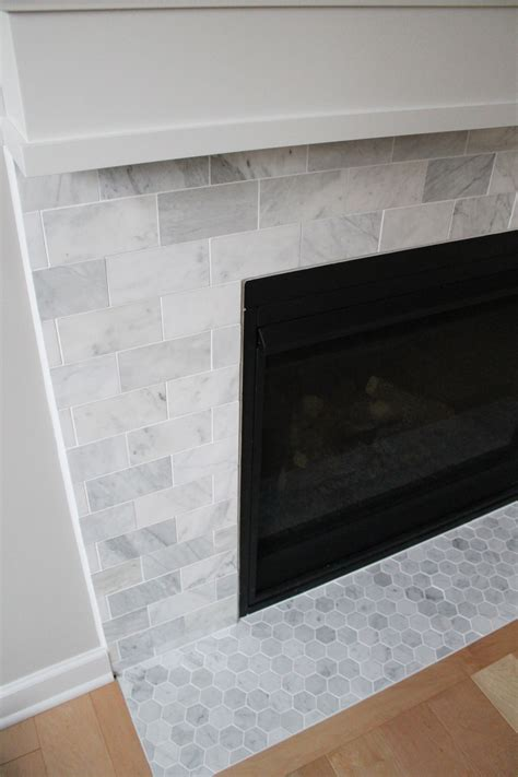 Fireplace With Tile carrara marble fireplace construction2style