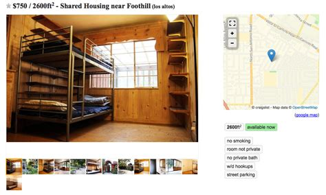 craigslist chicago bunk beds san francisco s bunk bed craigslist ads show the depth of