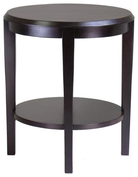 espresso accent table winsome wood 92617 nadia end table dark espresso
