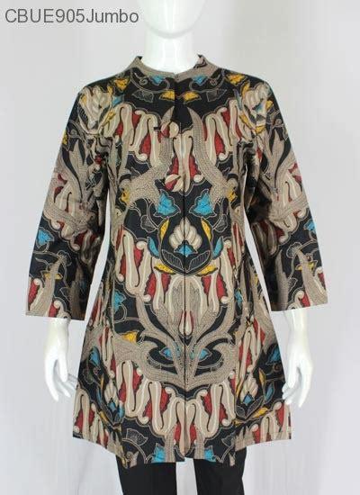 A Betasol Tunik Batik Jumbo atasan wanita tunik batik jumbo blarak 9014 blus lengan tanggung murah batikunik