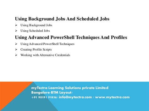 btm layout jobs powershell training in bangalore classroom online