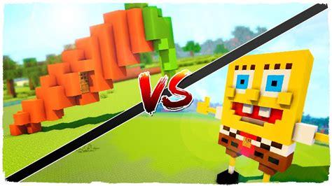 casa spongebob casa de bob esponja vs casa de zanahoria minecraft