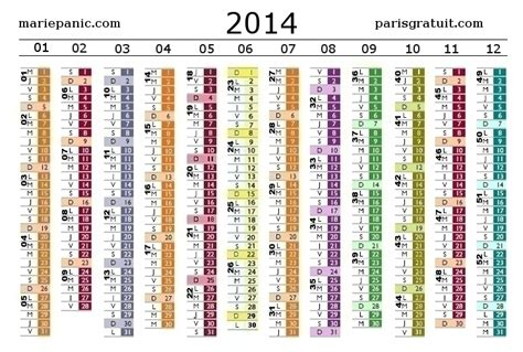 Calendrier N Semaine 2014 Calendrier 2014 Gratuit Free Calendar Calendario