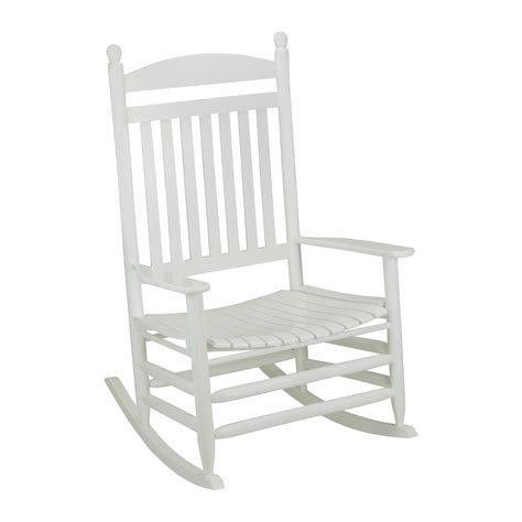 white outdoor rocking chair bradley white slat jumbo patio rocking chair 1200sw rta