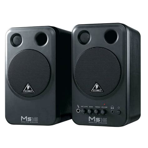 Speaker Monitor Behringer Ms16 16 Watt behringer ms16 active powered studio near field monitor