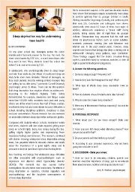 printable sleep quiz english teaching worksheets teens