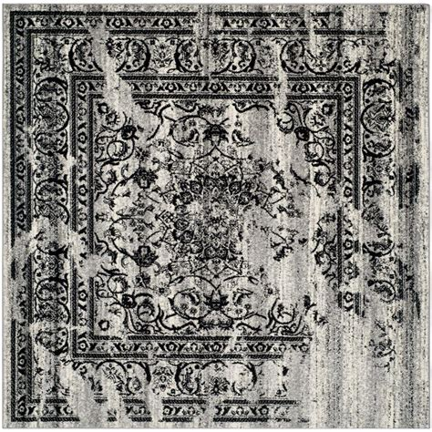 square area rugs 10 x 10 safavieh adirondack silver black 10 ft x 10 ft square area rug adr101a 10sq the home depot