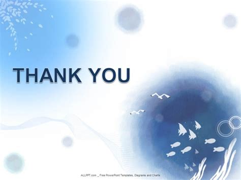 thank you themes for ppt ocean water powerpoint templates design download free