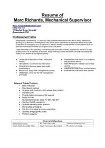 mechanical supervisor resume sample sample maintenance mechanic resume resumeindexcom 2016 supervisor resume 12 download free documents in pdf word