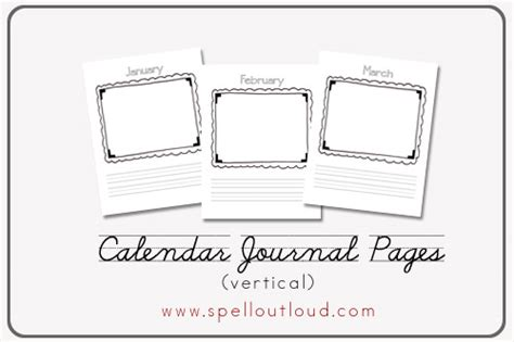 printable journal pages kindergarten our kindergarten calendar journal spell out loud