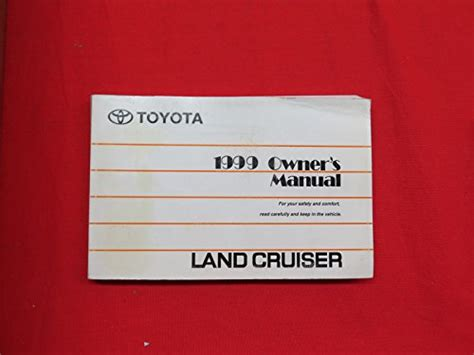 old car owners manuals 1999 toyota land cruiser seat position control 1999 toyota land cruiser owners manual guide book toyota land cruiser outpost