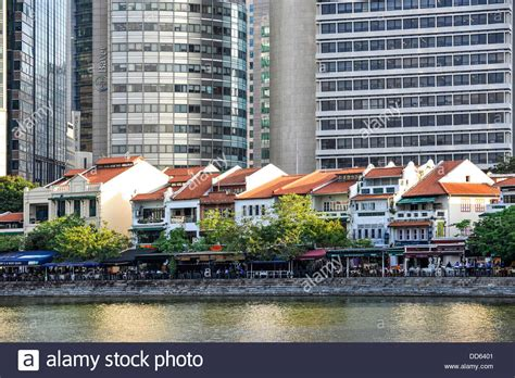 boat quay old photos singapore boat quay on the river a row of old low houses