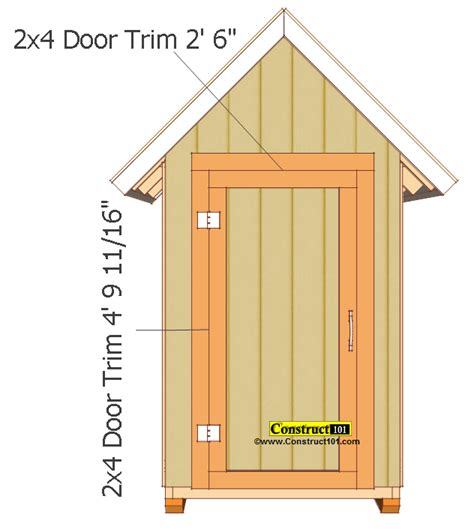 Small Shed Plans by Small Garden Shed Plans 4 X4 Gable Shed Construct101