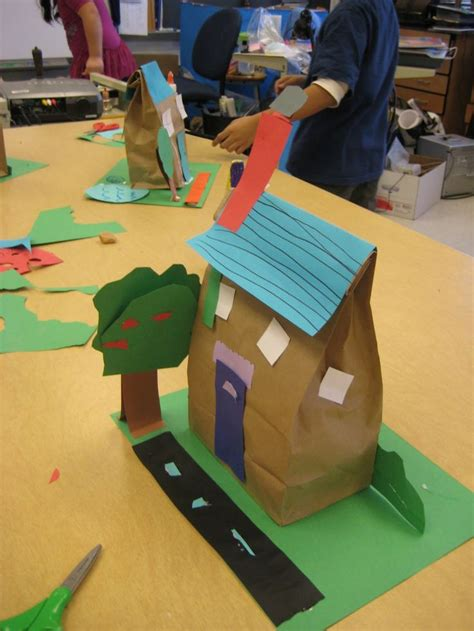 Paper Bag Arts And Crafts For - places in our community paper bag buildings