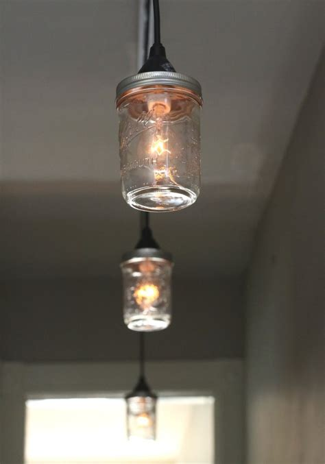 How To Make A Lighting Fixture Out Of Mason Jars Ehow How To Make Pendant Lights