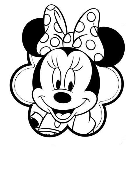 imagenes a blanco y negro de minnie minnie para colorear pintar e imprimir