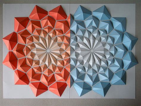 origami mosaics  kota hiratsuka colossal