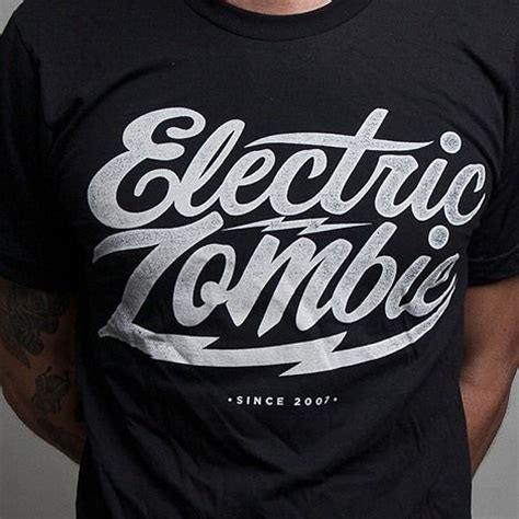Lettering T Shirt electric typography logo t shirt design type