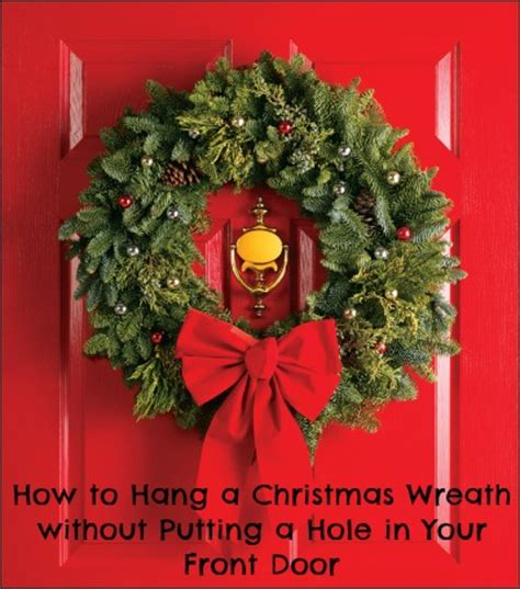 how to make a christmas door hanging on youtube 3 ways to hang a wreath on your front door without a