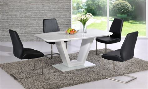 black gloss dining table and chairs white high gloss dining table with glass top and 6 black