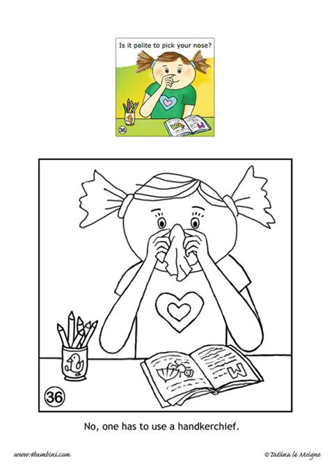 don t pick your nose coloring pages hellokids com