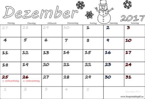 monatskalender dezember  ausdrucken  drucken kostenlos