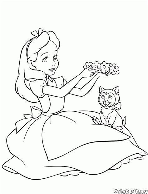 coloring page alices tea party