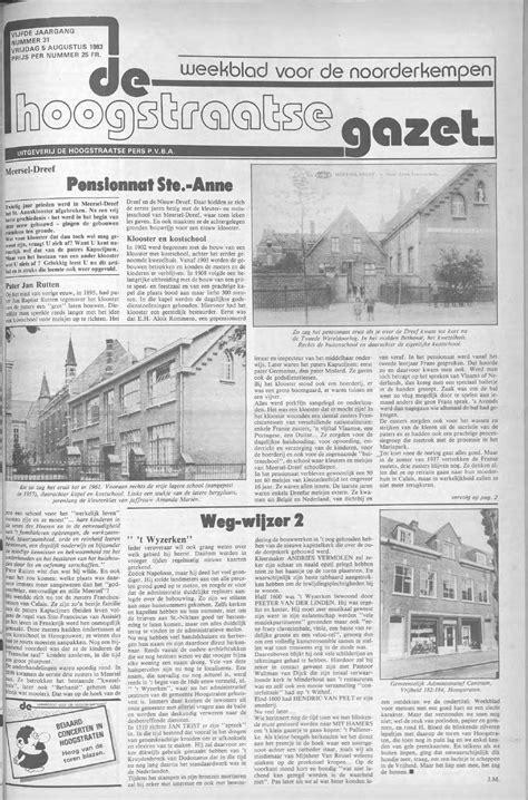 roeien kortrijk de hoogstraatse gazet augustus 1983 nr 30 33 by de