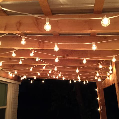 bar string lights the best outdoor patio string lights patio reveal