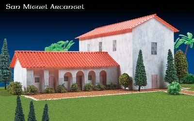 Mission San Jose Floor Plan Missions Of California San Miguel Arcangel Project Kit