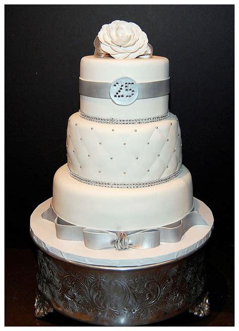 25th Wedding Anniversary Cake Images Wedding Cake   Cake