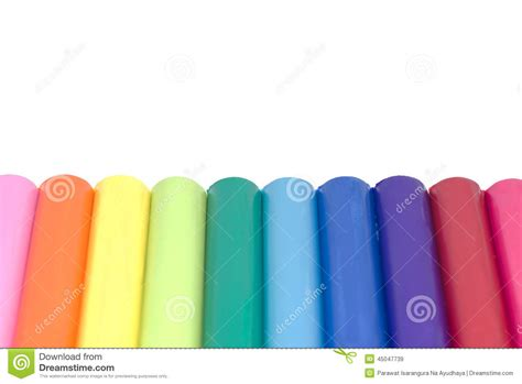 colorful clay colorful plasticine clay isolated stock photo image