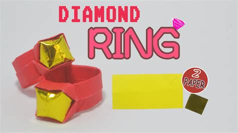 How To Make A Paper Ring Origami - s day how to make a paper ring