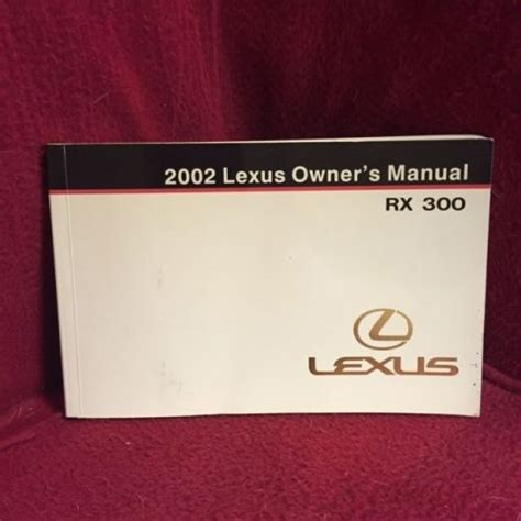 motor auto repair manual 2002 lexus rx user handbook purchase 2002 lexus rx300 oem owners manual motorcycle in ridgeland mississippi united states