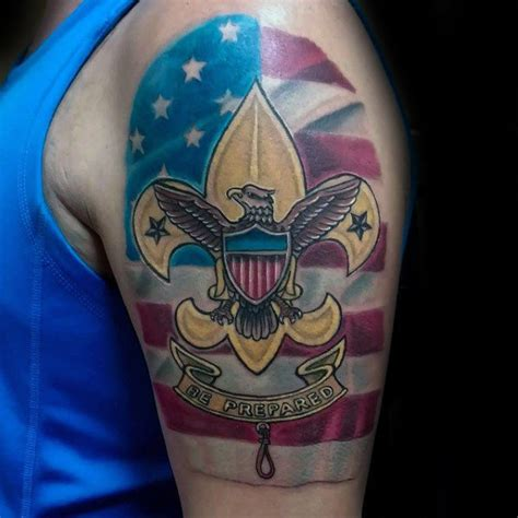 30 eagle scout tattoo designs for men boy scouts of america