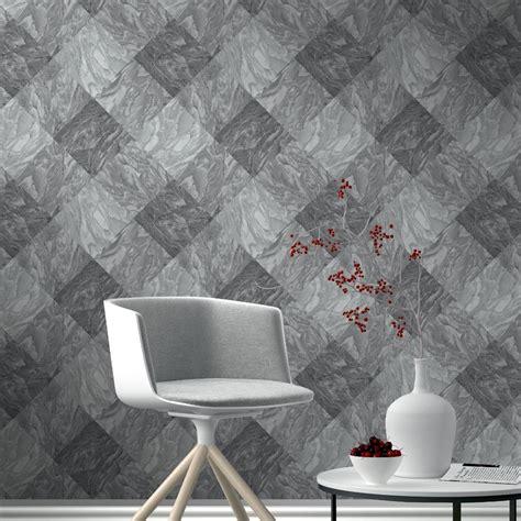 Rasch Wallpaper rasch marble tile pattern wallpaper realistic faux effect