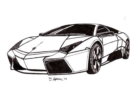 lamborghini car drawing free coloring pages of murcielago mask