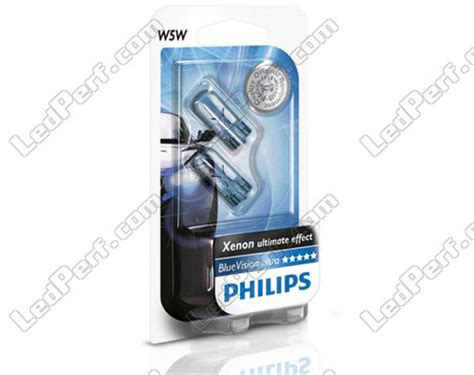 Philips Bluevision T10 W5w White Light Blue Vision Lu Sein Senja pack of 2 philips bluevision ultra halogen sidelights white base w5w for sidelights