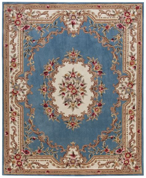 blue aubusson rug kenneth mink dynasty aubusson light blue 7 6 quot x 9 6 quot area rug rugs macy s home decor