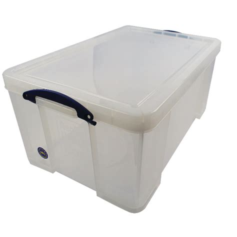 64 plastic storage really useful 64 litre storage box with lid clear