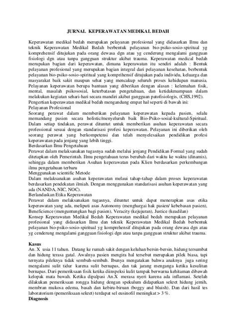 format analisa jurnal keperawatan jurnal keperawatan medikal bedah