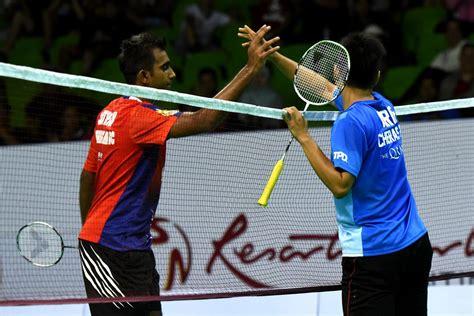 badminton mewarnai satheistharan buat kelab badminton cheras gigit jari