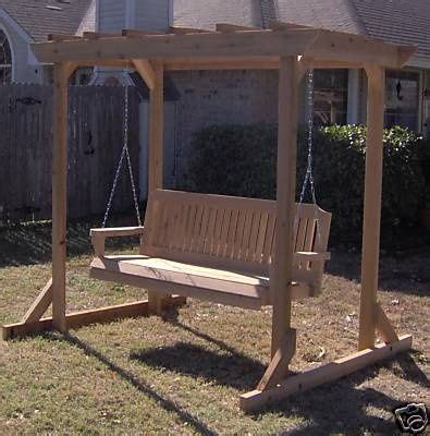 free standing bench swing building plans free standing pergola awning with swing
