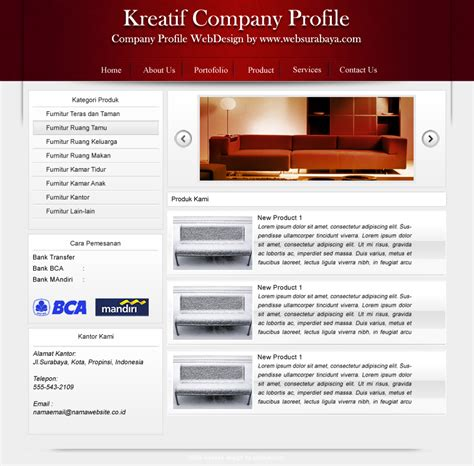 layout of a company profile desain layout website pertama kreatif company profile