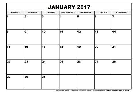 printable calendar jan january 2017 calendar february 2017 calendar