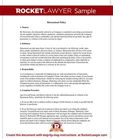 workplace amp company harassment policy template with sample