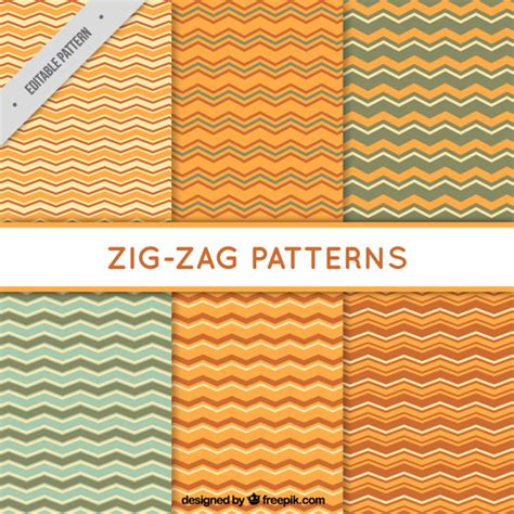 zig zag pattern free download selection of six zig zag patterns vector free download